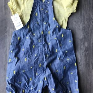 Carter's Matching Sets - NWT Carter's shortalls outfit
